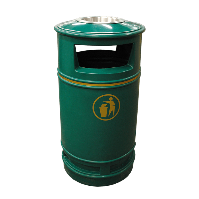 Melba Swintex Copperfield Litter Bin Street Furniture